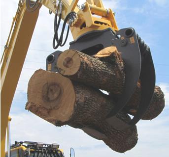 油圧式木材用グラップルツカミーノウッド